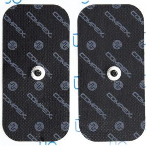 Compex pack 2 électrodes rectangles simples EasySnap